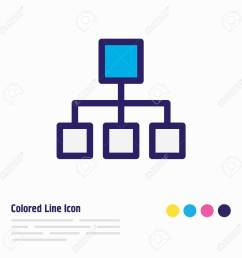 illustration of structure icon colored line beautiful music element also can be used as hierarchy [ 1300 x 1300 Pixel ]
