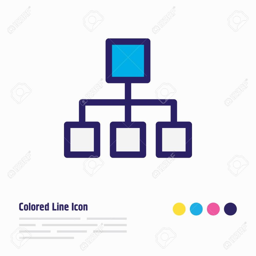 medium resolution of illustration of structure icon colored line beautiful music element also can be used as hierarchy
