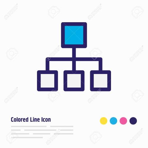 small resolution of illustration of structure icon colored line beautiful music element also can be used as hierarchy