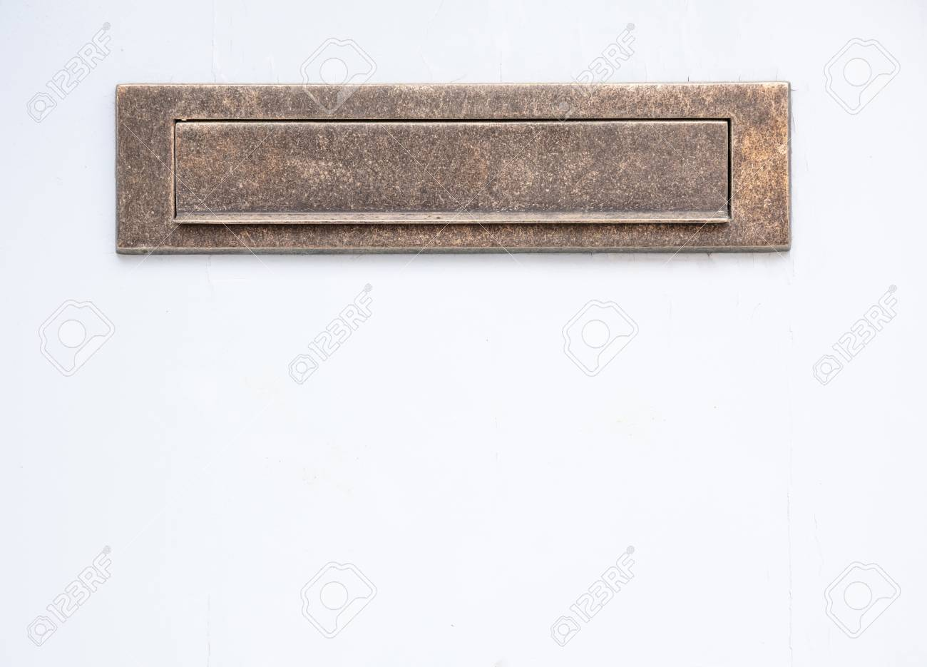 Old Bronze Mailbox Brass Vintage Mail Letter Box On White Color Stock Photo Picture And Royalty Free Image Image 117566419