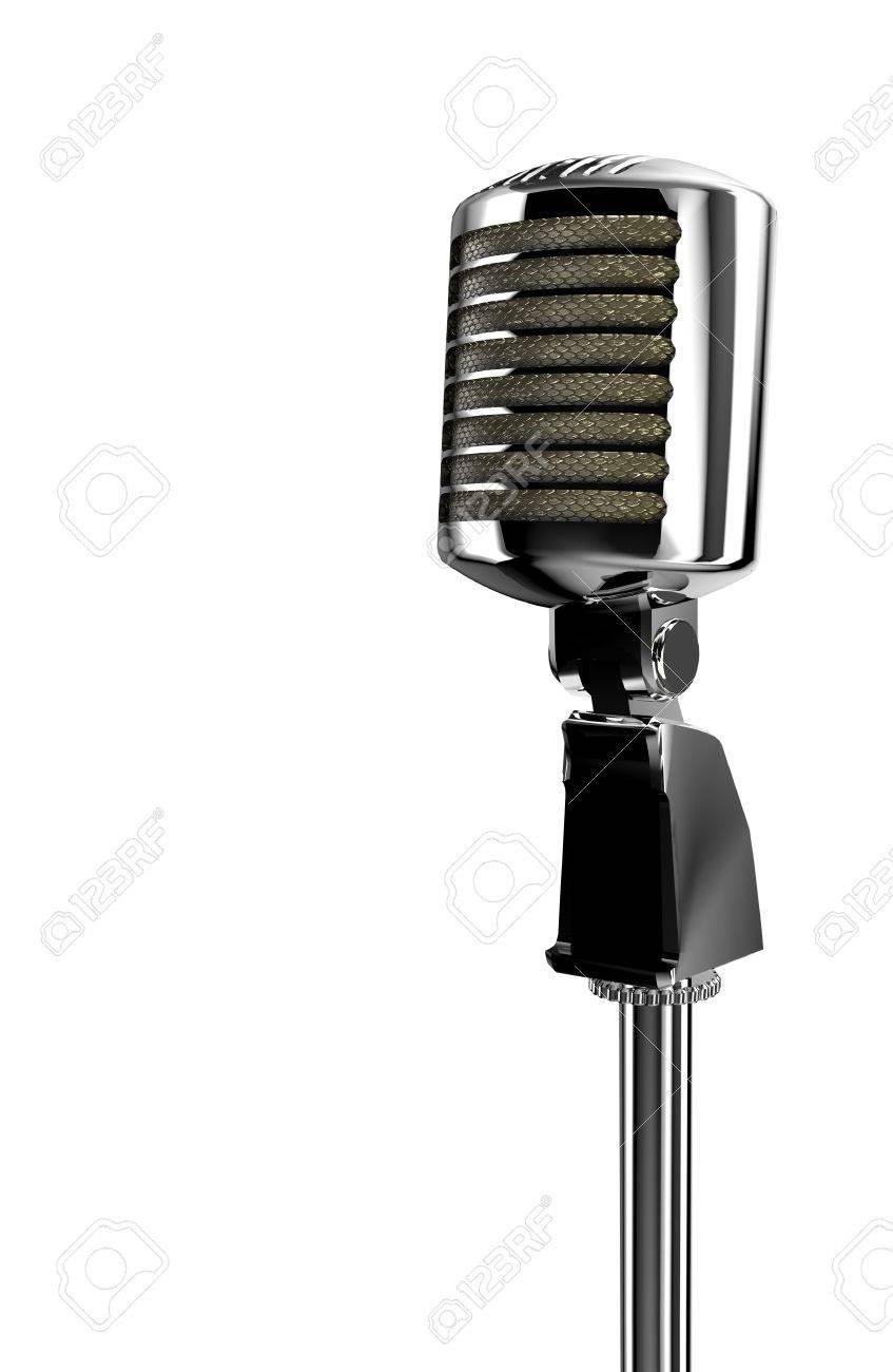 vintage golden mic