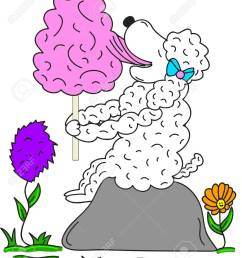 sheep eating cotton candy clipart cartoon illustration stock vector 39034685 [ 1100 x 1300 Pixel ]