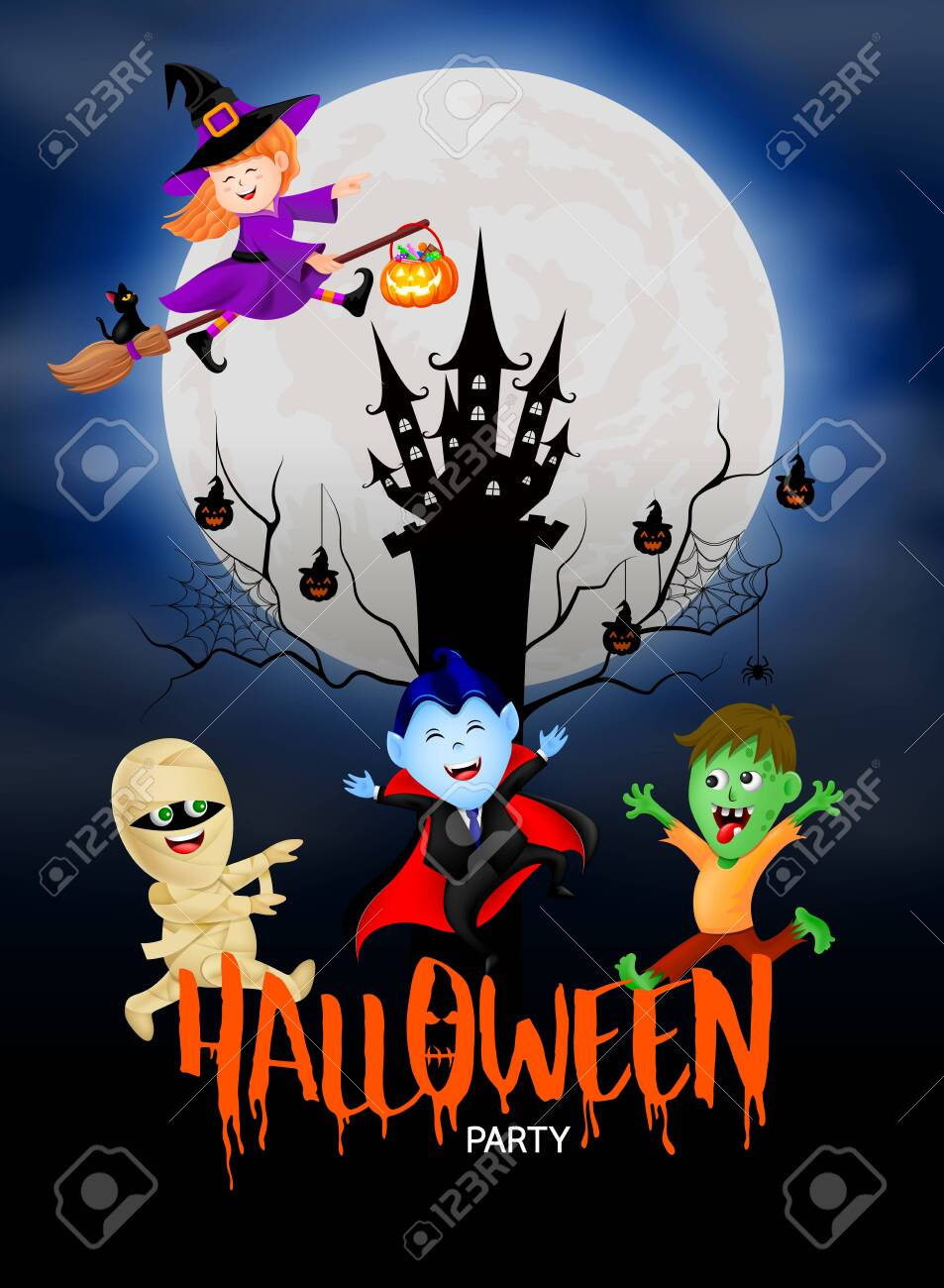 Cute Cartoon Halloween Pictures : cartoon, halloween, pictures, Funny, Cartoon, Character., Witch,, Count, Dracula,, Zombie, And.., Royalty, Cliparts,, Vectors,, Stock, Illustration., Image, 129273301.