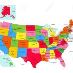 Usa 50 States With State Names And Capital Vector Royalty Free Cliparts Vectors And Stock Illustration Image 16460444