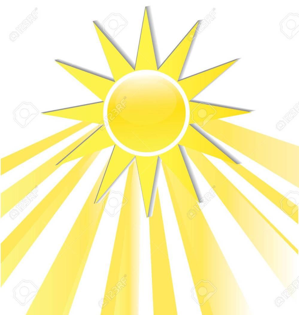 medium resolution of sun rays icon logo stock vector 74478974