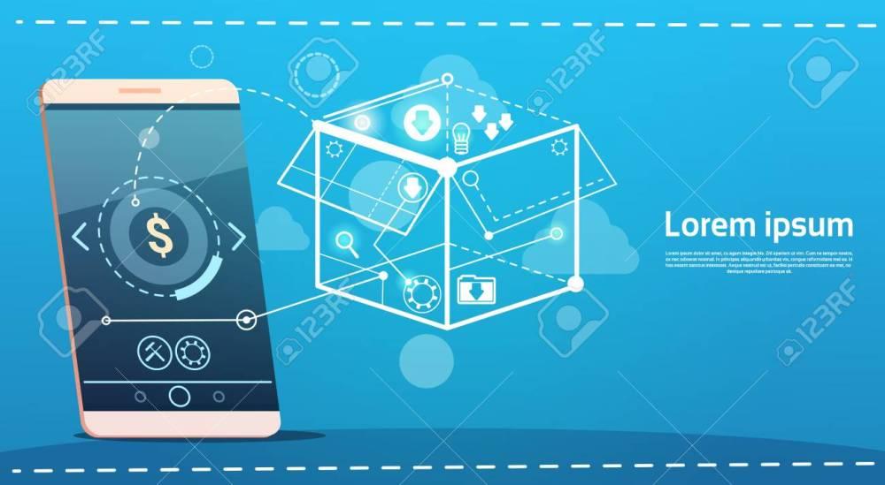 medium resolution of cell smart phone brainstorming briefing idea creative concept business banner vector illustration stock vector 71718800