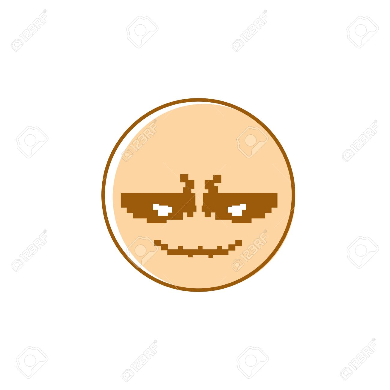 hight resolution of smiling cartoon face positive people emotion icon vector illustration stock vector 79721220