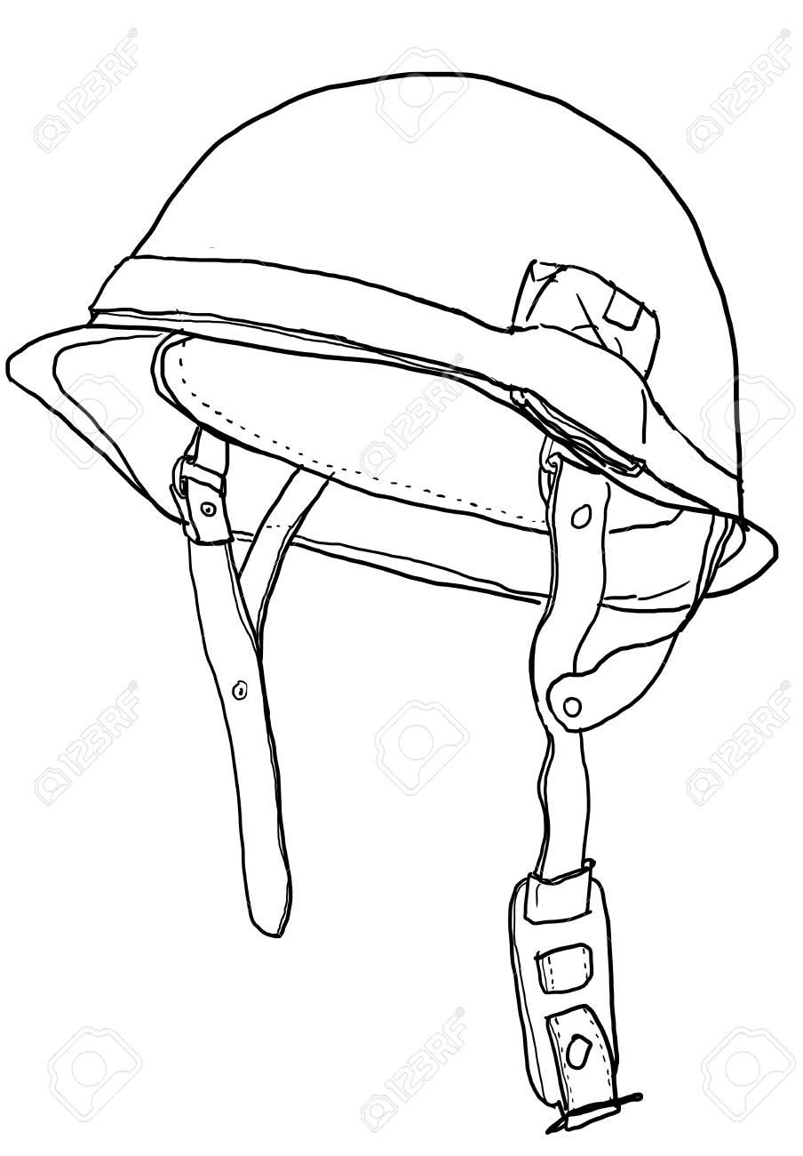 Army Helmet Drawing : helmet, drawing, Helmet:, Helmet, Drawing