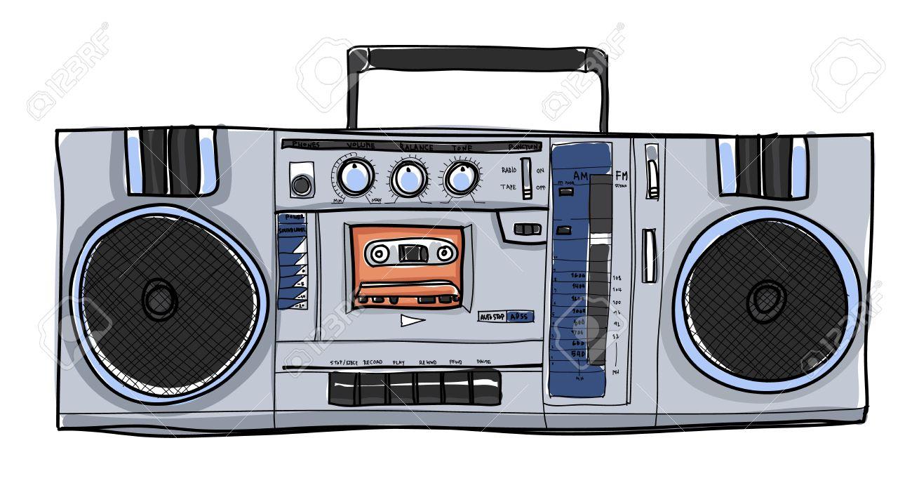 vector stereo boombox radio
