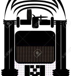 jukebox silhouette stock vector 11216335 [ 892 x 1300 Pixel ]