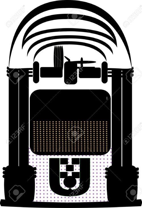 small resolution of jukebox silhouette stock vector 11216335