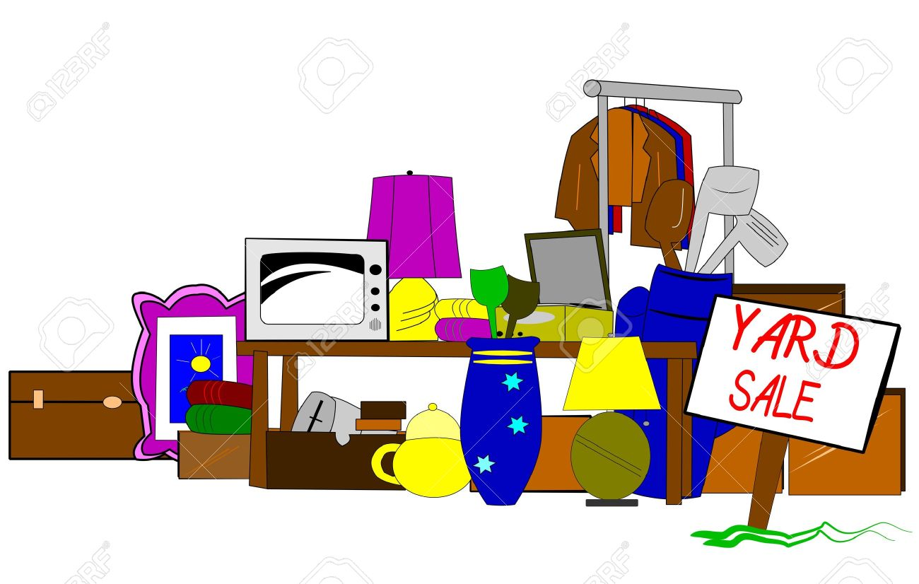 hight resolution of vector yard sale clipart