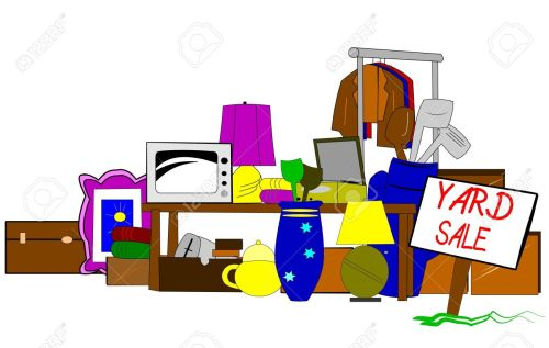 small resolution of vector yard sale clipart