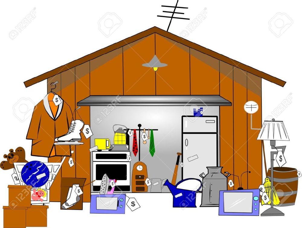 medium resolution of garage sale stock vector 15255318