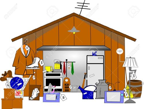 small resolution of garage sale stock vector 15255318