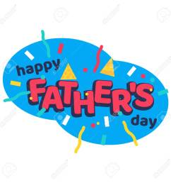 happy fathers day cartoon sticker with serpantine ribbons stock vector 90337076 [ 1300 x 1300 Pixel ]