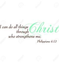 philippians 4 13 inspirational scripture typography stock vector 43011747 [ 1300 x 1300 Pixel ]