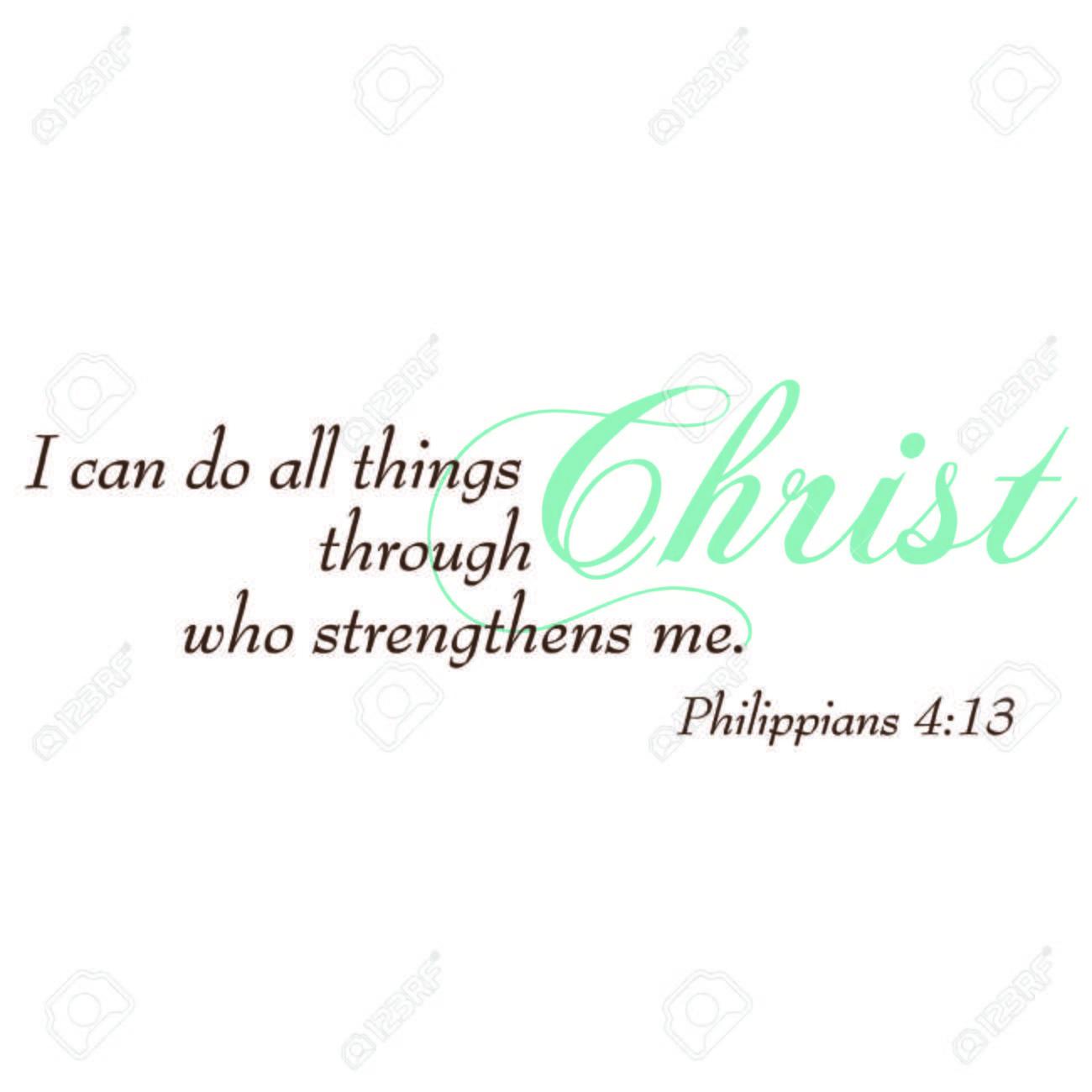 hight resolution of philippians 4 13 inspirational scripture typography stock vector 43011747
