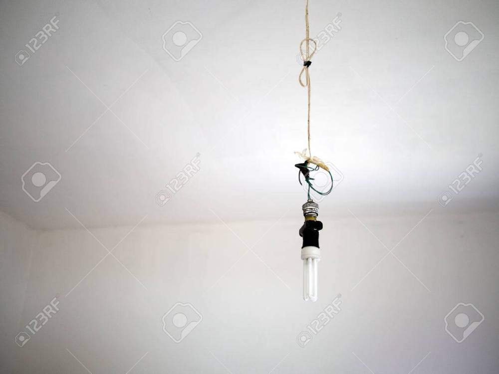 medium resolution of bad electrical wiring danger with modern light bulb stock photo 64268076