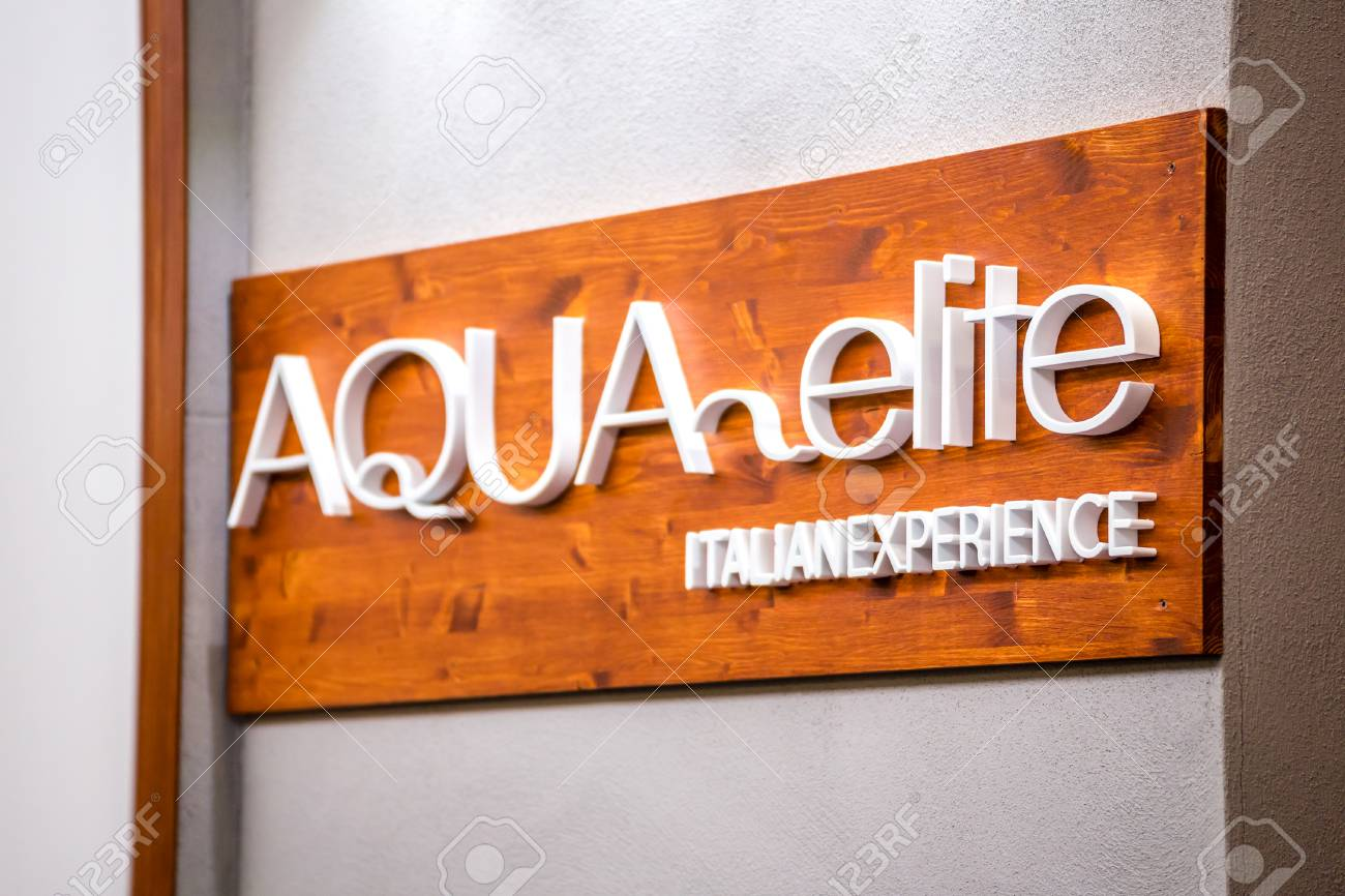 https www 123rf com photo 110141780 bologna italy september 28 2018 light is enlightening aqua elite logo at cersaie international exhib html