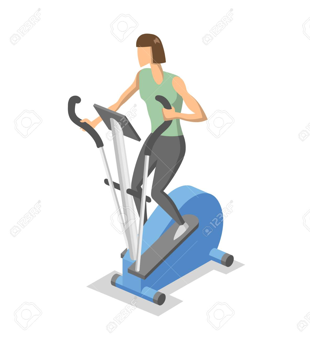 woman working out on