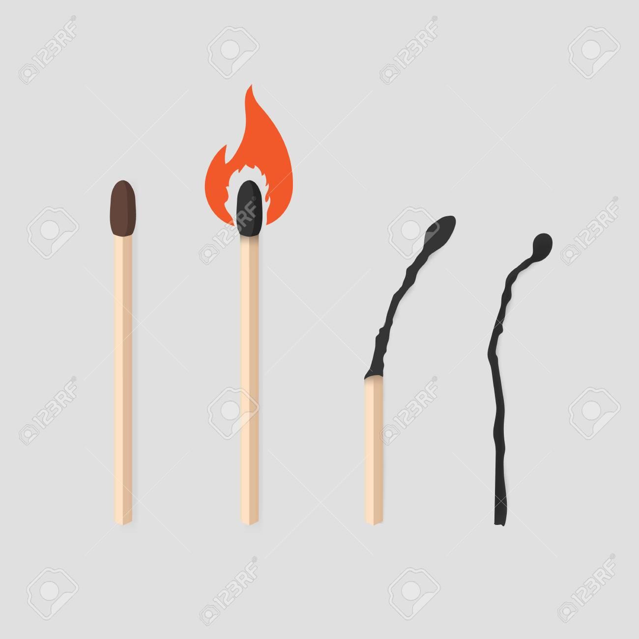burning match stages set