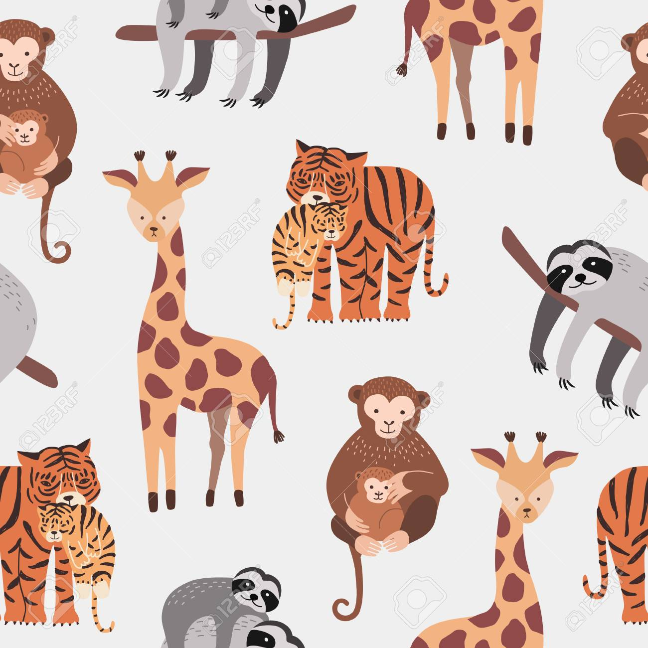 Funny Background Zoo