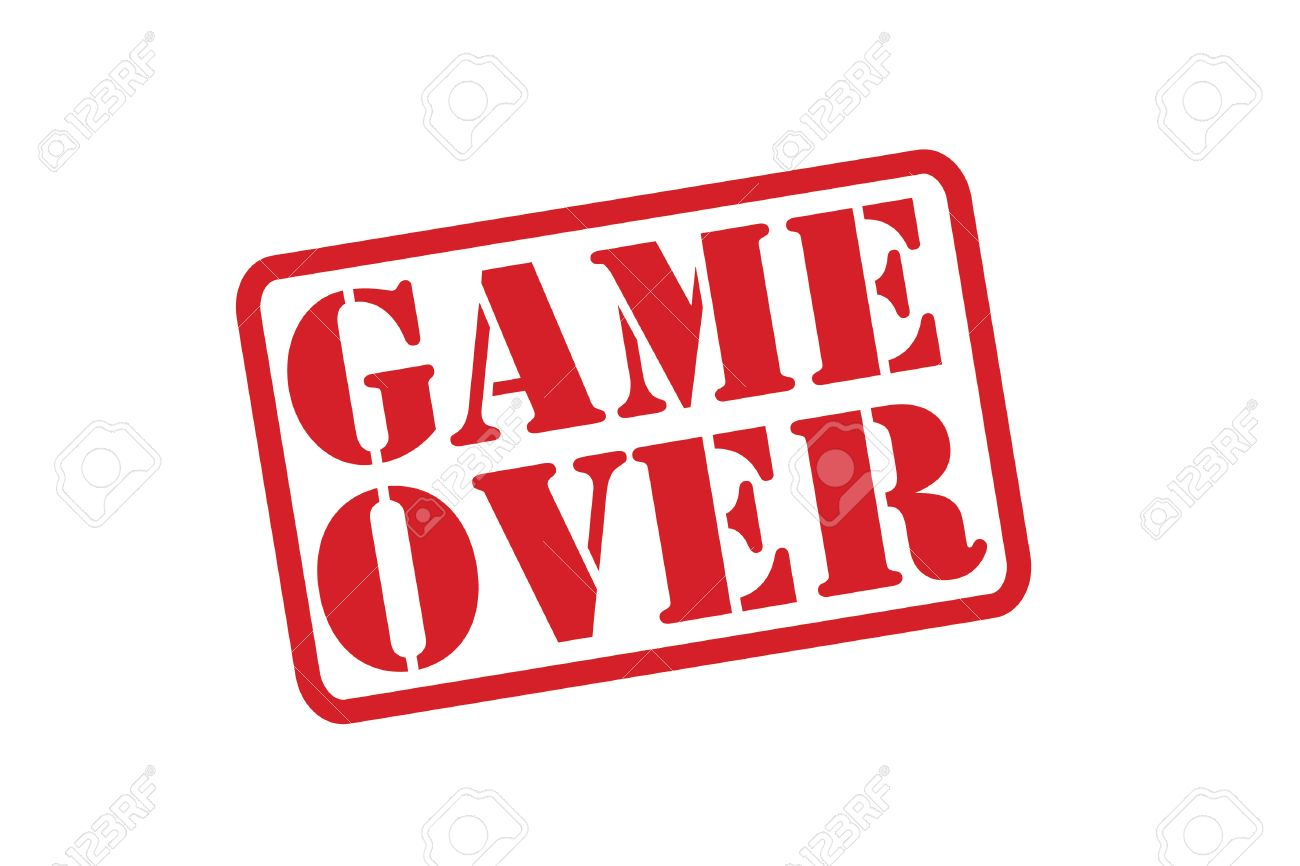 game over red rubber