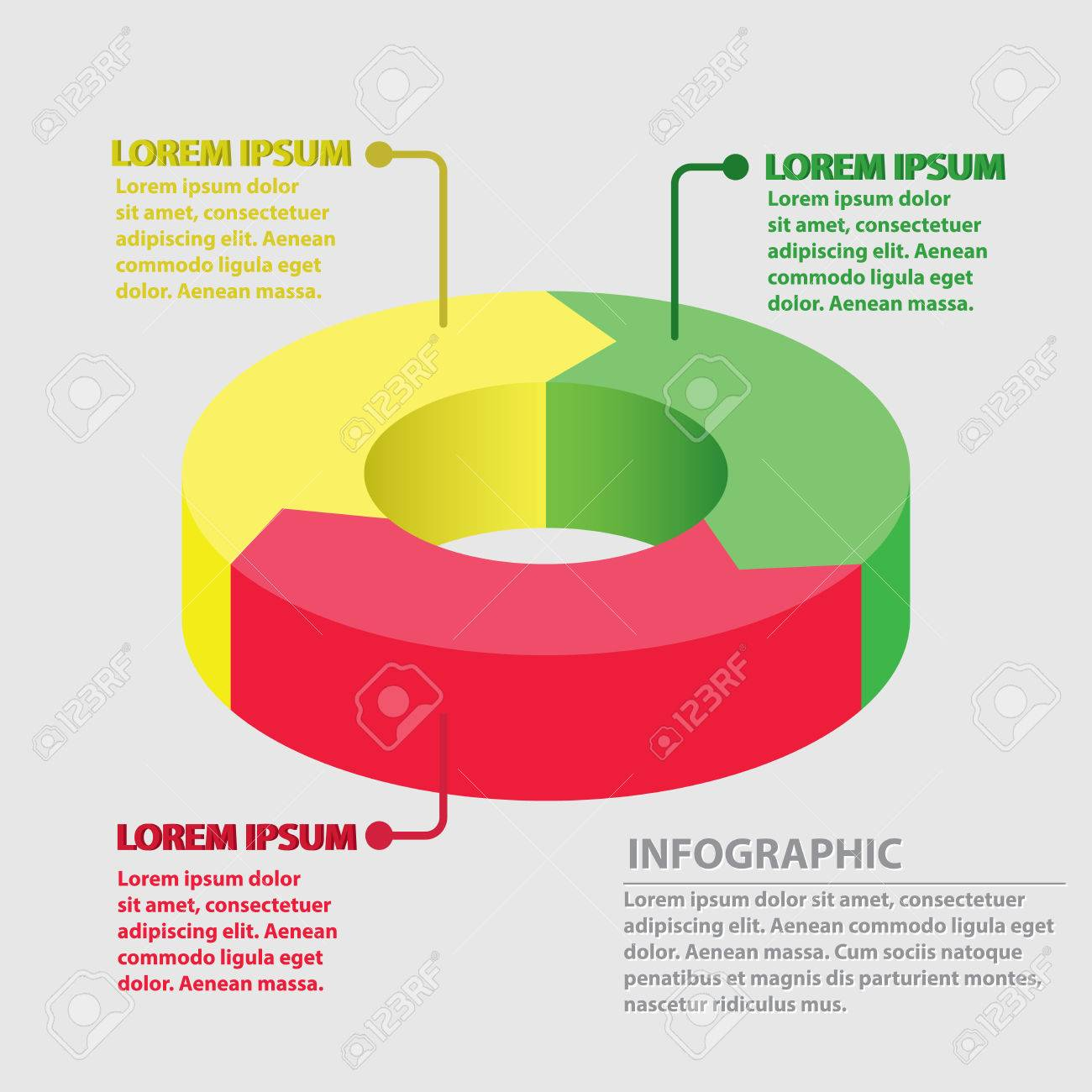 3 arrow circle diagram food vector arrows infographic cycle graph presentation chart business concept with round options circular parts equal steps