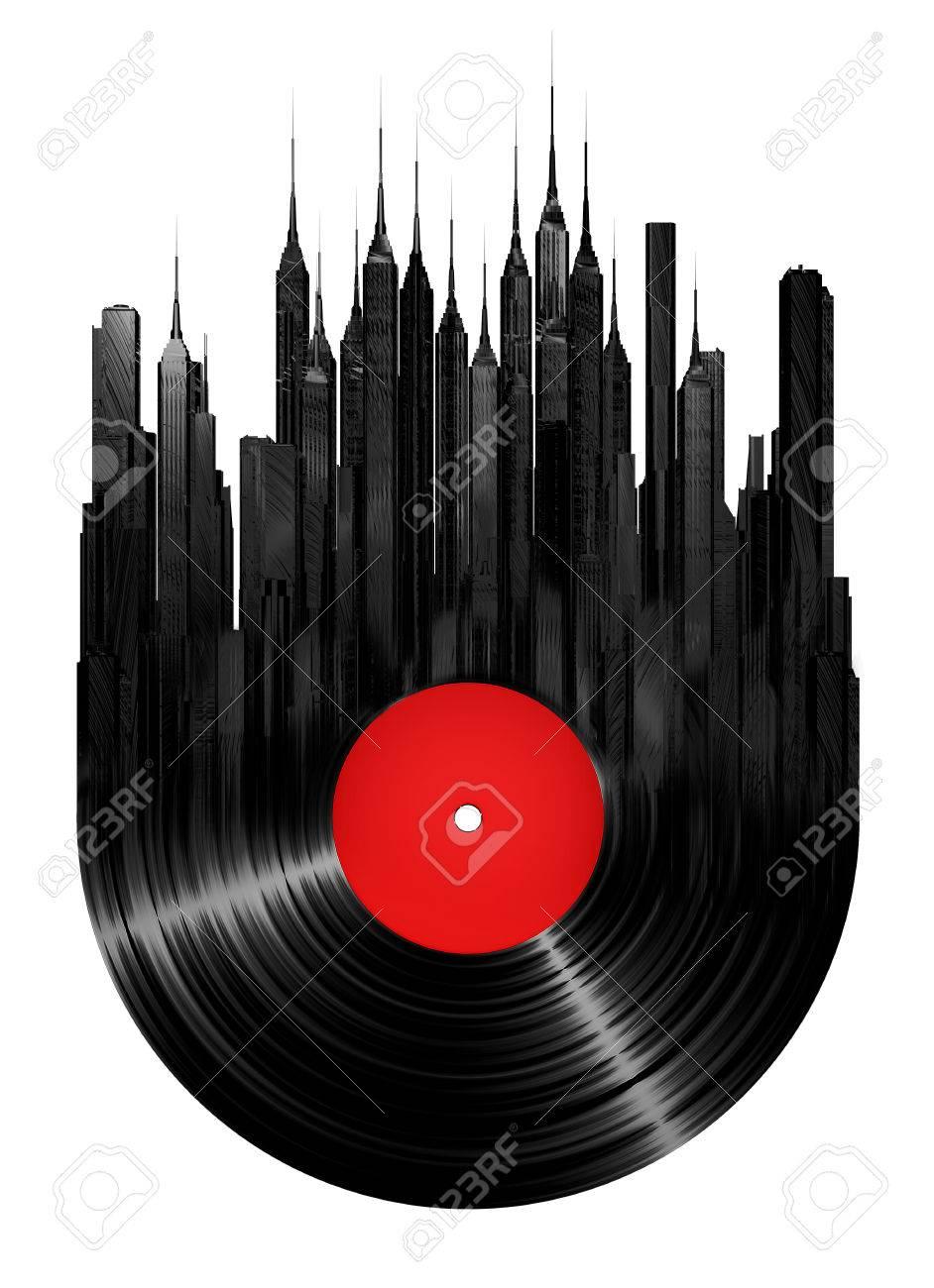 vinyl city 3d render