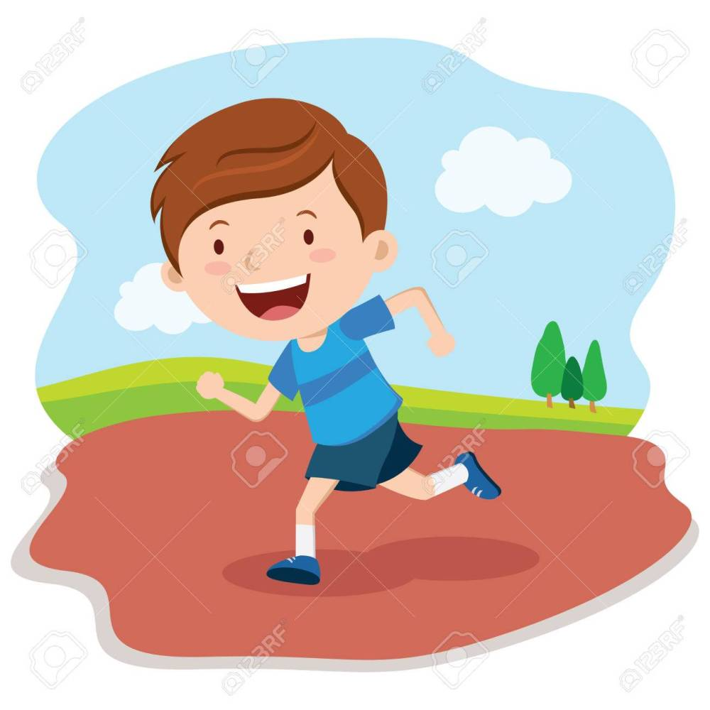 medium resolution of boy running race marathon runner stock vector 62399882