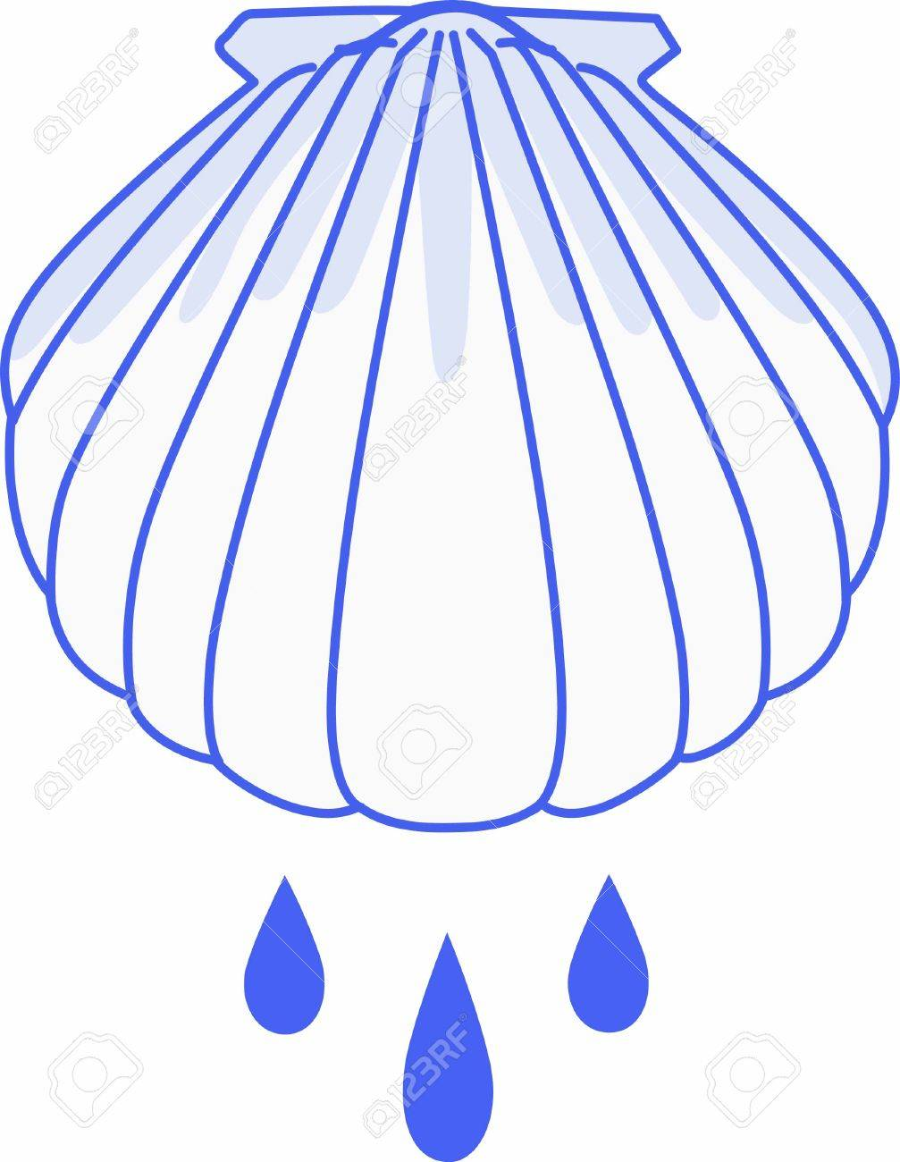 hight resolution of have this baptism shell for a very special occasion stock vector 45284403