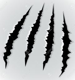 vector vector illustration of monster claw scratch [ 1300 x 1300 Pixel ]