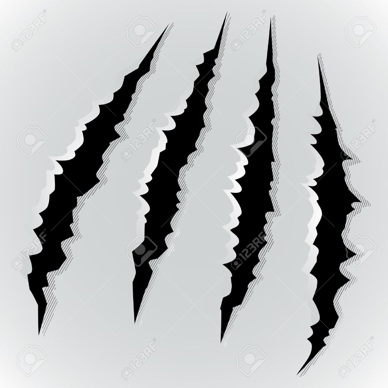 hight resolution of vector vector illustration of monster claw scratch