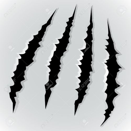 small resolution of vector vector illustration of monster claw scratch