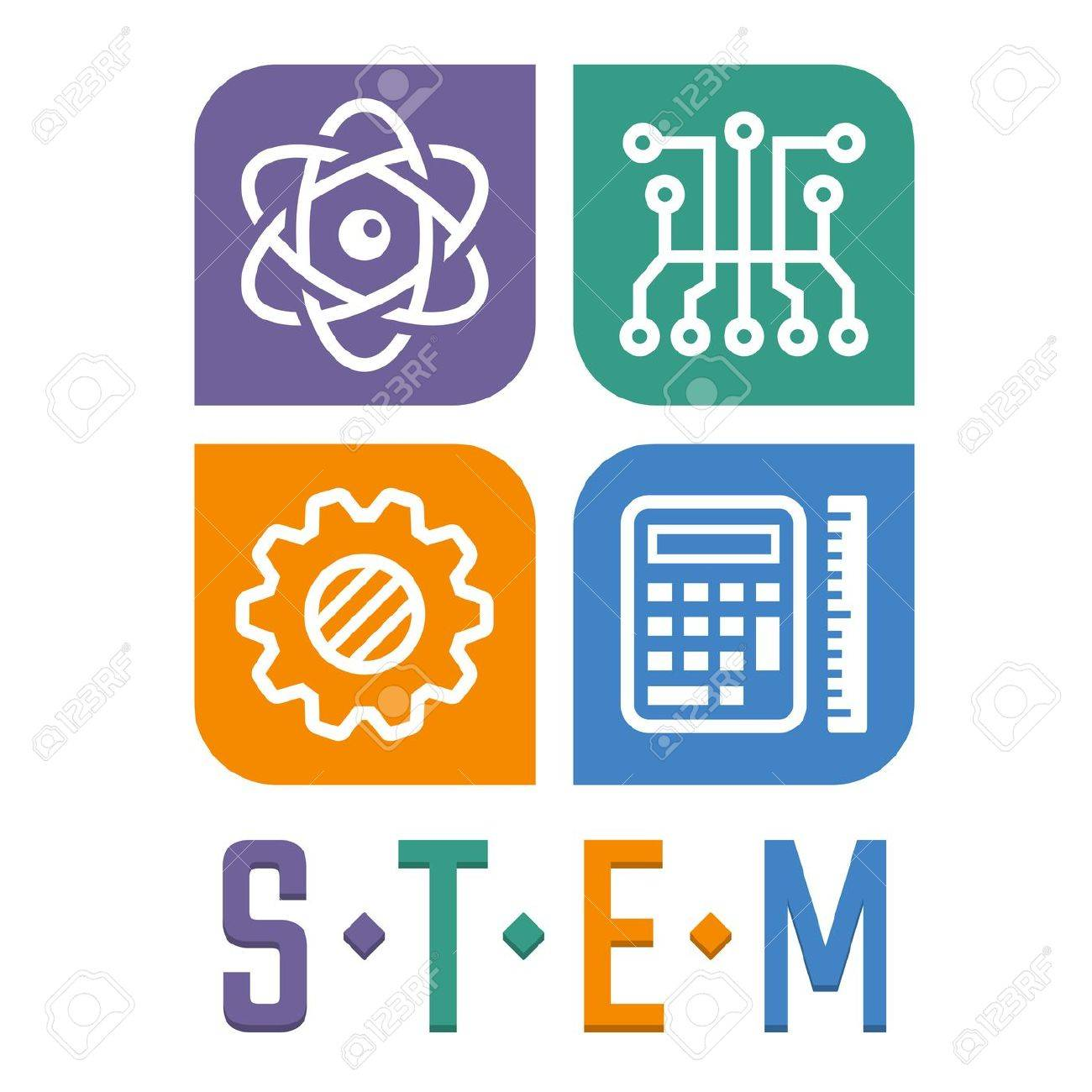 hight resolution of vector vector illustration of science technology engineering and math education