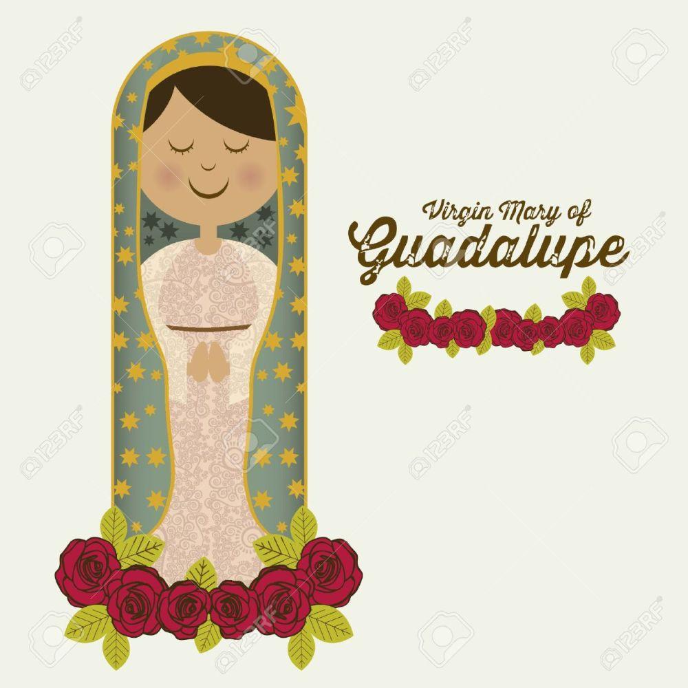 medium resolution of religious illustration from the virgin mary mother of jesus christ vector illustration stock vector