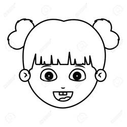 Girl Cartoon Face Icon Kid Child Little And People Theme Isolated Royalty Free Cliparts Vectors And Stock Illustration Image 63755568