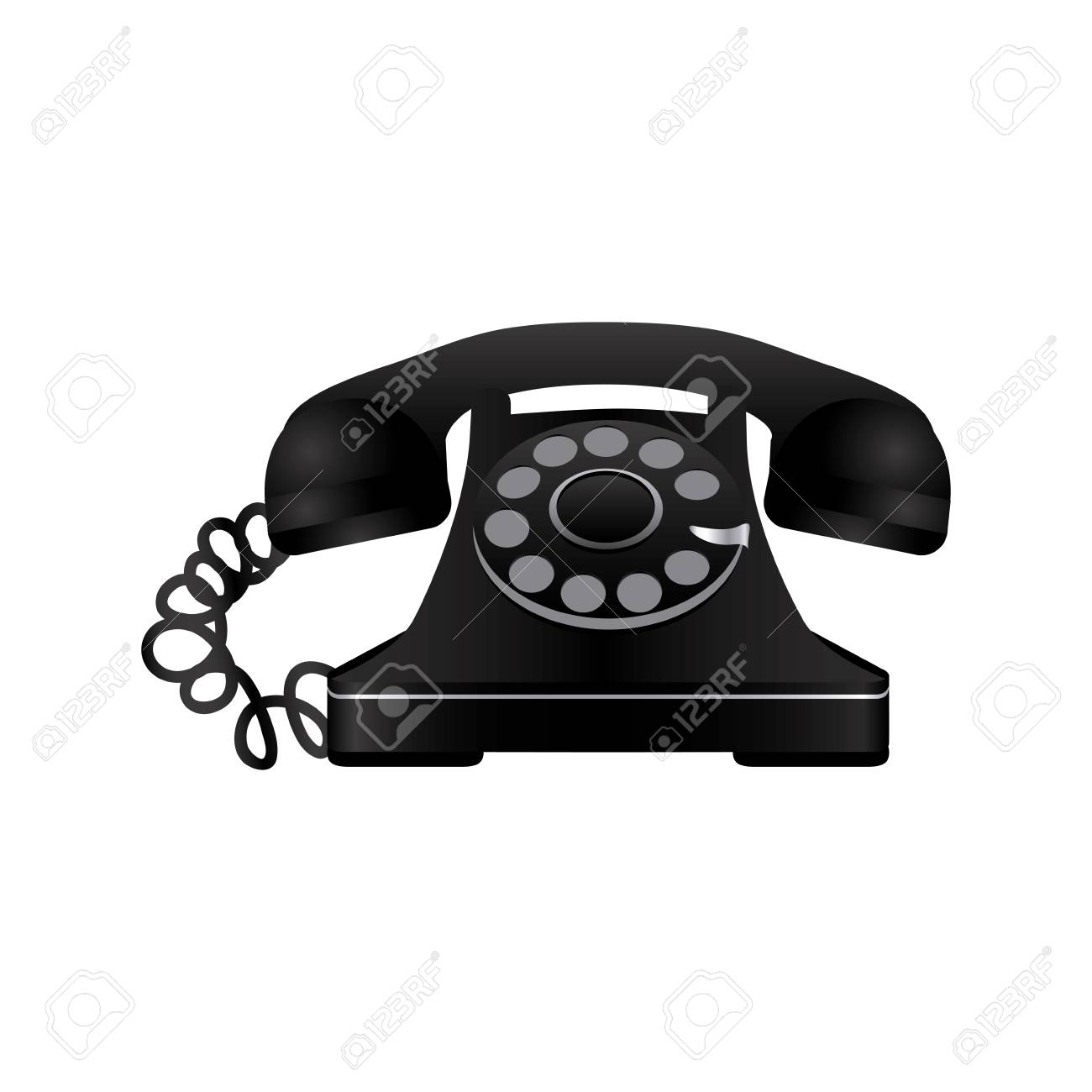 sticker color telephone icon vector illustraction design image