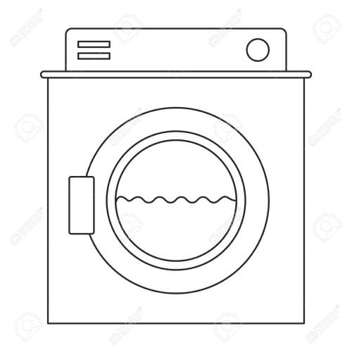 small resolution of monochrome silhouette of washing machine with water medium level vector illustration stock vector 84473897