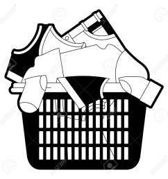 black sections silhouette of laundry basket with heap of clothes vector illustration stock vector jpg 1300x1300 [ 1300 x 1300 Pixel ]