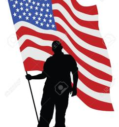 soldier in uniform with american flag stock vector 79429880 [ 919 x 1300 Pixel ]