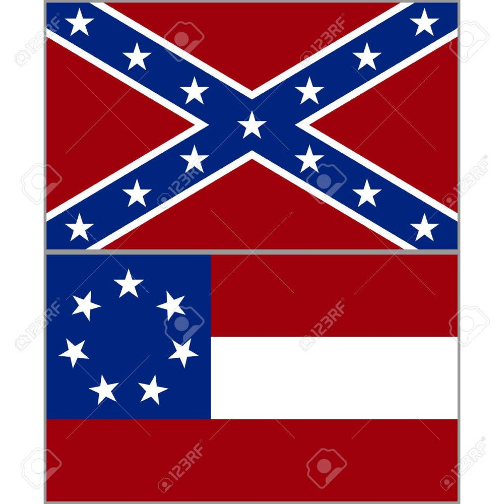 medium resolution of flags of the confederacy during the american civil war the illustration on a white background