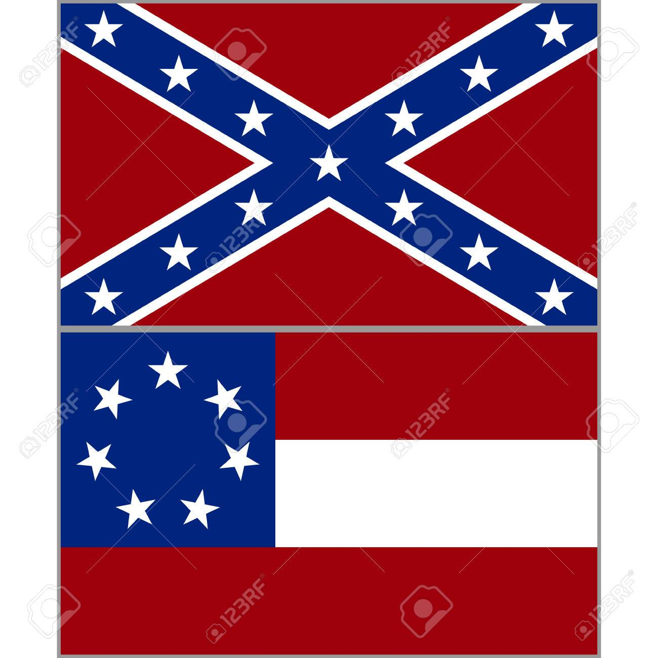 hight resolution of flags of the confederacy during the american civil war the illustration on a white background