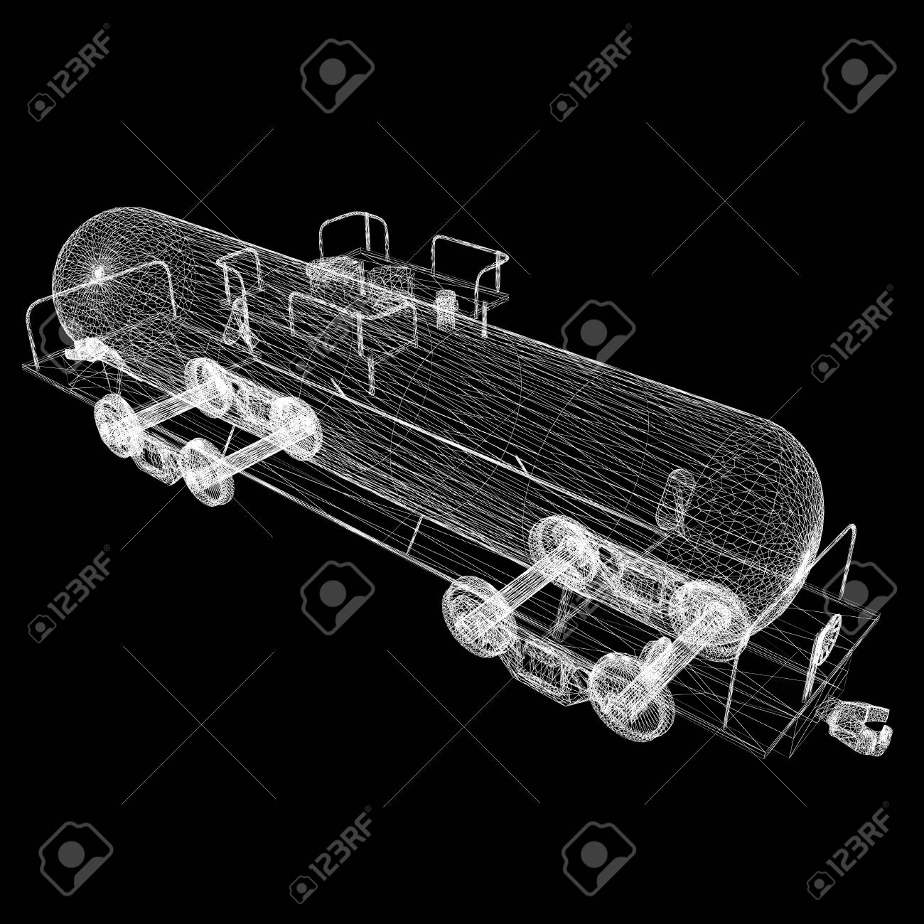 hight resolution of 3d model cistern car stock photo 45088030