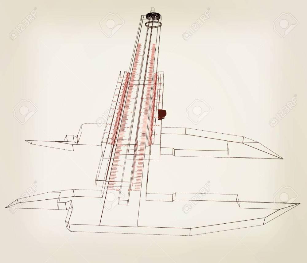 medium resolution of vernier caliper 3d illustration vintage style stock illustration 60854050