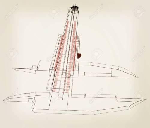 small resolution of vernier caliper 3d illustration vintage style stock illustration 60854050