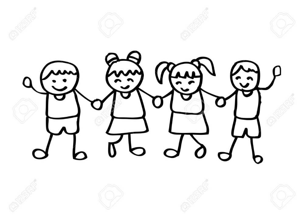 medium resolution of little kids holding hands stock vector 85903998