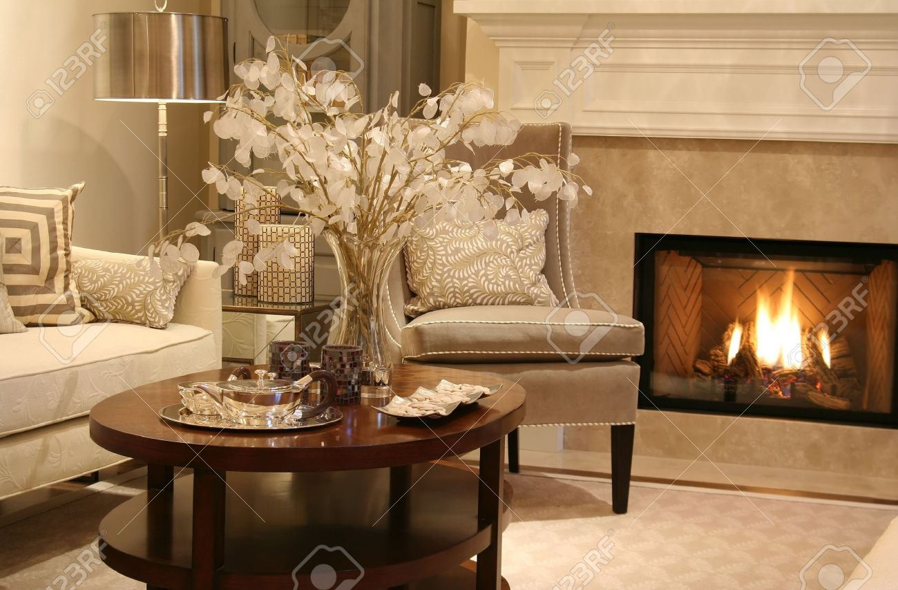 elegant living rooms with fireplaces room bookcase ideas fireplace on stock photo picture and 2533430