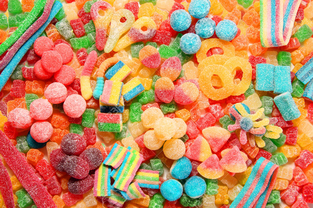 assorted variety of sour